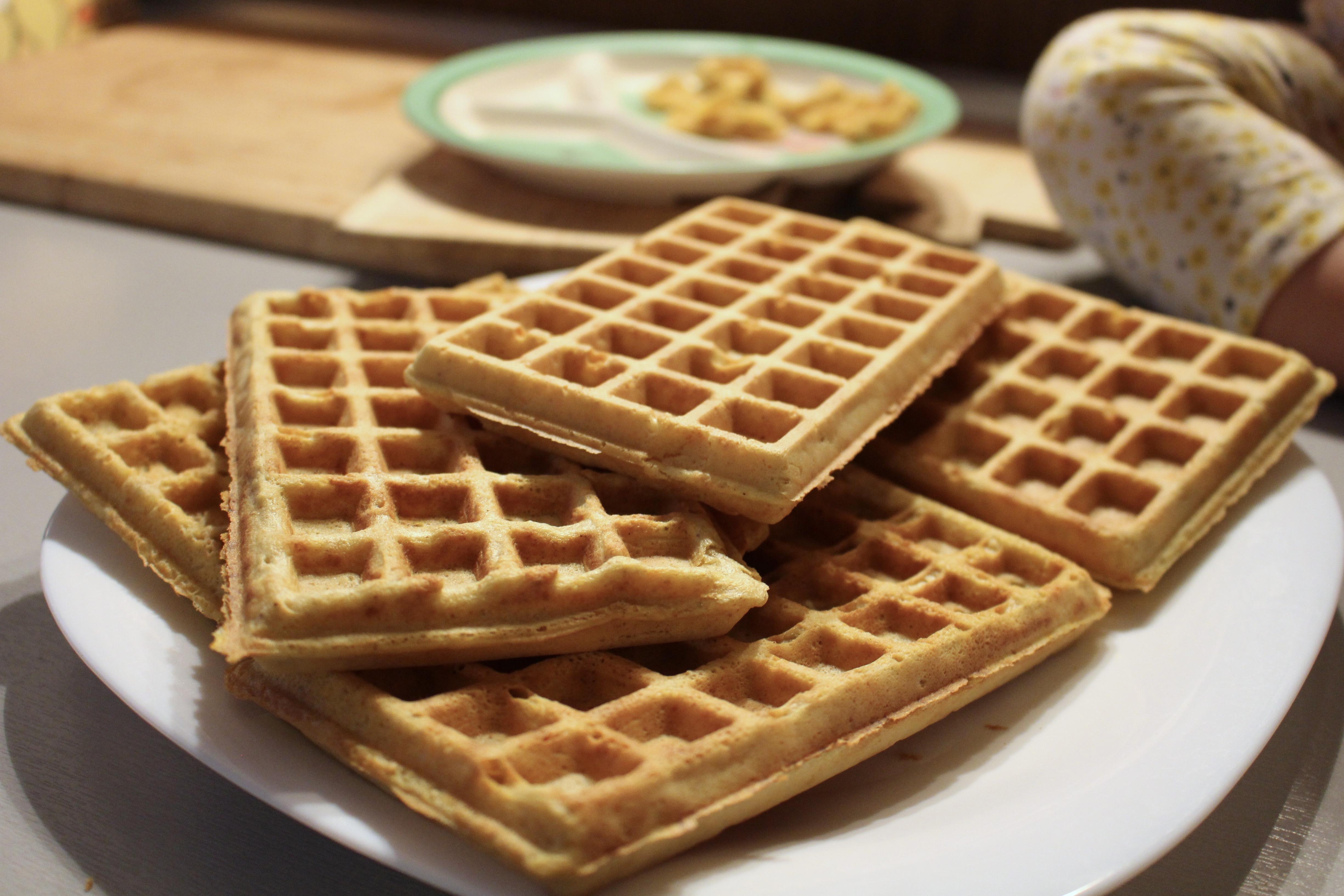marchewkowe gofry bez glutenu