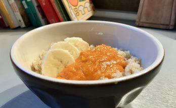 Komosa ryżowa z musem dyniowym