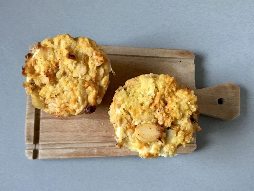 Marchewkowe muffinki z kaszy jaglanej