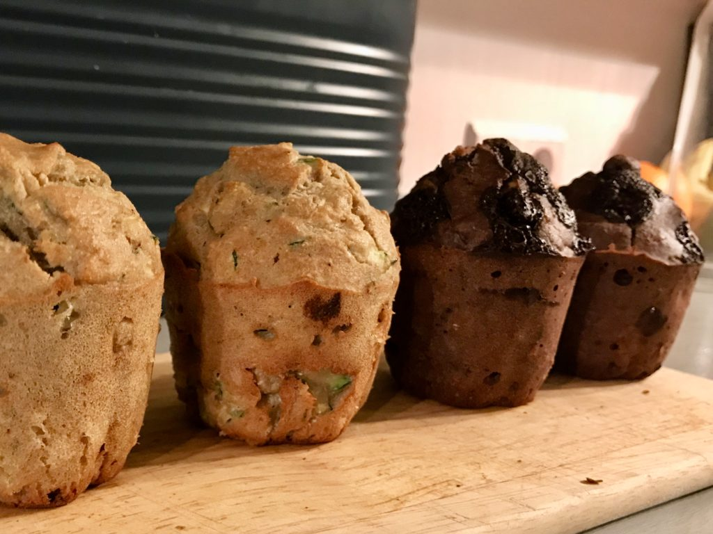 cukiniowe muffinki z czekoladą