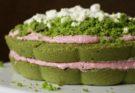tort szpinakowy leśny mech z truskawkami