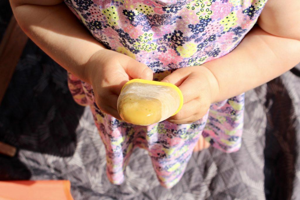 Lody mandarynkowe z natką pietruszki