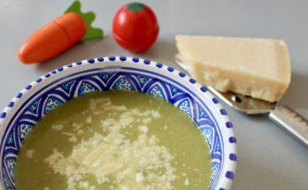 Zupa krem z zielonej części pora