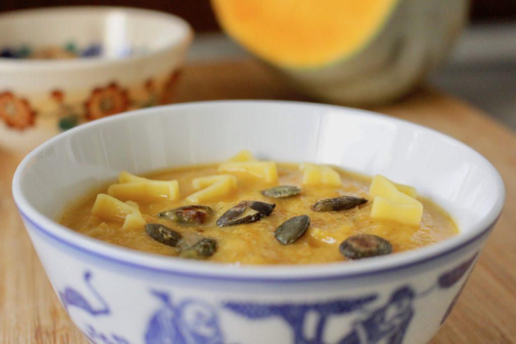 Zupa krem z dyni i kalafiora. BLW.