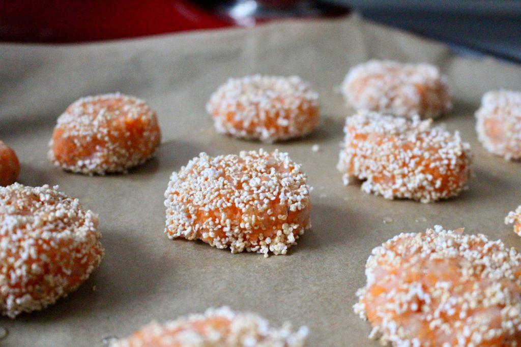 Pieczone kotlety z dorsza i marchewki