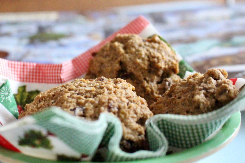 Ciasteczka owsiane z żurawiną i czekoladą