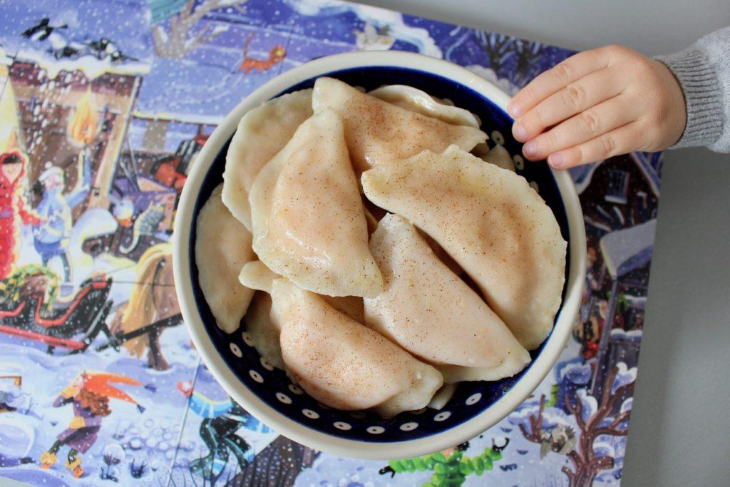Pierogi z batatem i białym serem