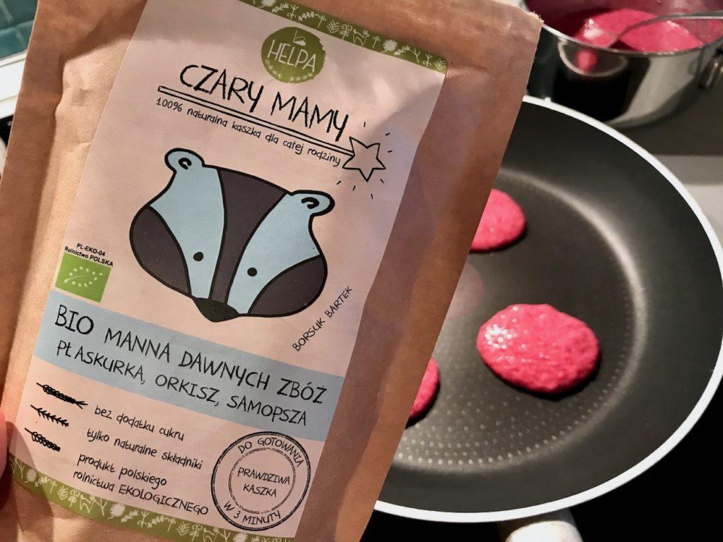 Buraczane placuszki z kaszy manny BLW