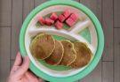 Placki cukiniowe z mascarpone i nektarynką BLW