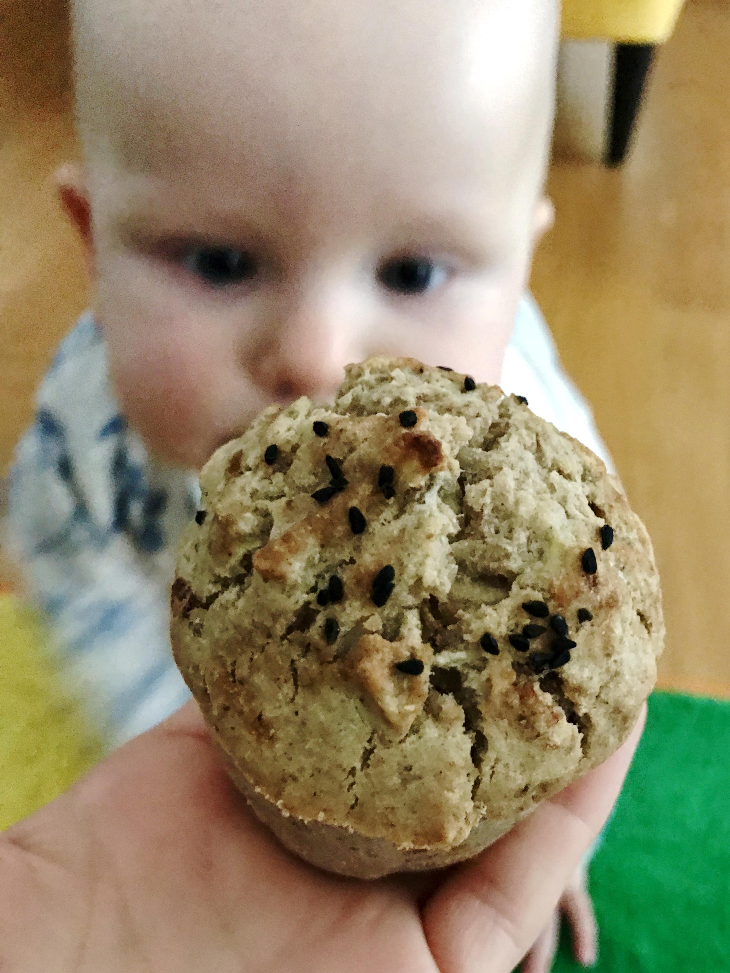 Muffinki gryczano ryzowe z cukinia i jablkiem