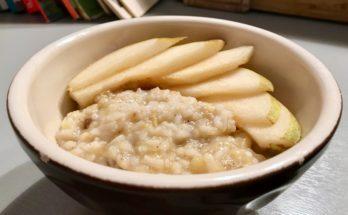 Kokosowy ryż z musem dyniowo-bananowym