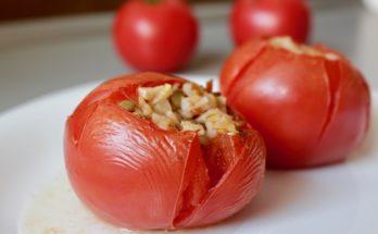 Pieczone pomidory z kaszą. BLW.