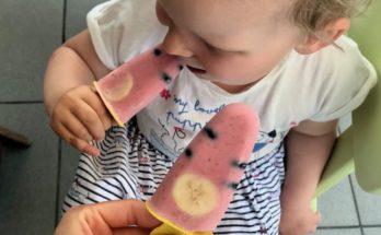 Domowe lody z kawałkami owoców i mascarpone blw