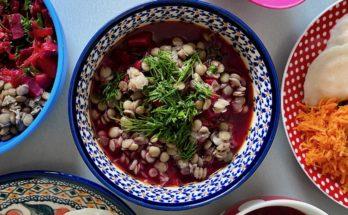 zupa botwinka z zieloną soczewicą