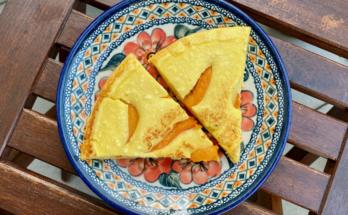 omlet twarogowy z morelami
